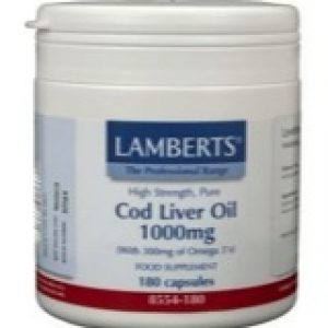 afbeelding Lamberts Levertraan (Cod Liver Oil) 1000 Mg (180ca)