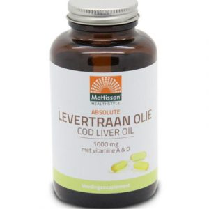 afbeelding Mattisson Levertraanolie 1000 Mg Vitamine A/d (120cap)