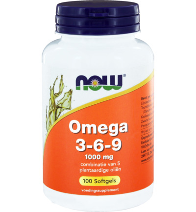 afbeelding Now Omega 3-6-9 1000 Mg (100sft)