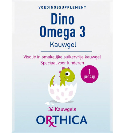 afbeelding Orthica Dino Omega 3 Kauwgels (36st)