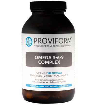 afbeelding Proviform Omega 3-6-9 Complex 1200 Mg (180sft)