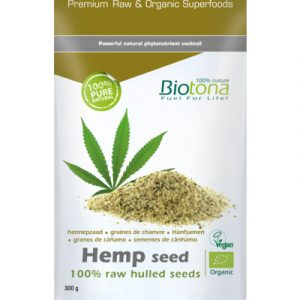 afbeelding Biotona Hemp Raw Hulled Seeds (300g)